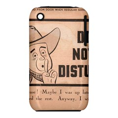 Do Not Disturb I Want To Sleep Thanks Apple iPhone 3G/3GS Hardshell Case (PC+Silicone) by AnjaniArt