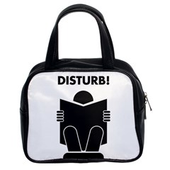 Do Not Disturb Sign Board Classic Handbags (2 Sides) by AnjaniArt