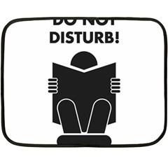 Do Not Disturb Sign Board Double Sided Fleece Blanket (mini)  by AnjaniArt