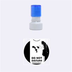 Do Not Disturb Sign Please Go Away I Don T Care Rubber Round Stamps (Small) by AnjaniArt