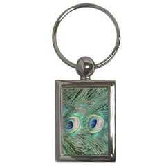 Peacock Feathers Macro Key Chains (rectangle)  by GiftsbyNature