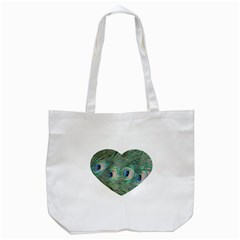 Peacock Feathers Macro Tote Bag (white) by GiftsbyNature