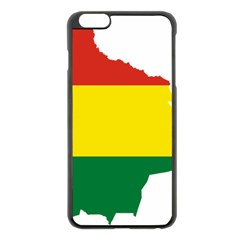 Flag Map Of Bolivia Apple Iphone 6 Plus/6s Plus Black Enamel Case by abbeyz71