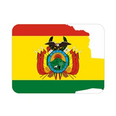 Flag Map Of Bolivia  Double Sided Flano Blanket (mini)  by abbeyz71