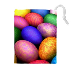 Easter Egg Drawstring Pouches (Extra Large) by AnjaniArt