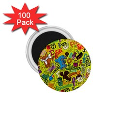 F Pattern Cartoons 1 75  Magnets (100 Pack)  by AnjaniArt