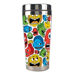 Face Creeps Cartoons Fun Stainless Steel Travel Tumblers by AnjaniArt