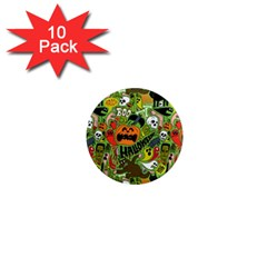 Halloween Pattern 1  Mini Magnet (10 pack)  by AnjaniArt