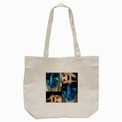 Holliwood Face Painting Tote Bag (cream) by AnjaniArt