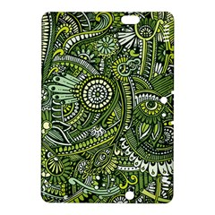 Green Boho Flower Pattern Zz0105 Kindle Fire Hdx 8 9  Hardshell Case by Zandiepants