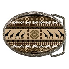 Giraffe African Vector Pattern Belt Buckles by Zeze