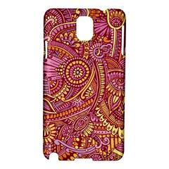 Pink Yellow Hippie Flower Pattern Zz0106 Samsung Galaxy Note 3 N9005 Hardshell Case by Zandiepants