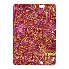 Pink Yellow Hippie Flower Pattern Zz0106 Kindle Fire Hdx 8 9  Hardshell Case by Zandiepants