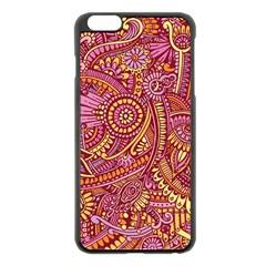 Pink Yellow Hippie Flower Pattern Zz0106 Apple Iphone 6 Plus/6s Plus Black Enamel Case by Zandiepants