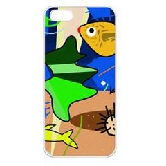 Aquarium  Apple Iphone 5 Seamless Case (white) by Valentinaart