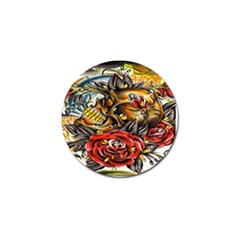 Flower Art Traditional Golf Ball Marker by Zeze