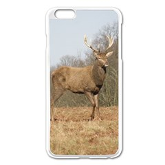 Red Deer Stag On A Hill Apple Iphone 6 Plus/6s Plus Enamel White Case by GiftsbyNature