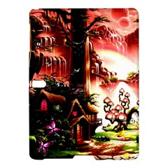 Fantasy Art Story Lodge Girl Rabbits Flowers Samsung Galaxy Tab S (10.5 ) Hardshell Case  by Zeze