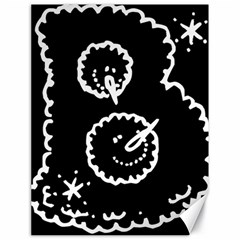 Funny Black And White Doodle Snowballs Canvas 18  X 24   by yoursparklingshop