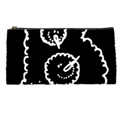 Funny Black And White Doodle Snowballs Pencil Cases by yoursparklingshop