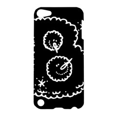 Funny Black And White Doodle Snowballs Apple Ipod Touch 5 Hardshell Case by yoursparklingshop