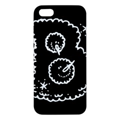 Funny Black And White Doodle Snowballs Apple Iphone 5 Premium Hardshell Case by yoursparklingshop