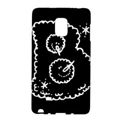 Funny Black And White Doodle Snowballs Galaxy Note Edge by yoursparklingshop