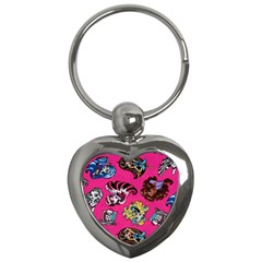 Large 1 Key Chains (heart)  by AnjaniArt