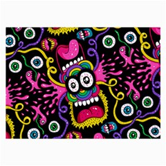 Monster Face Mask Patten Cartoons Collage Prints by AnjaniArt