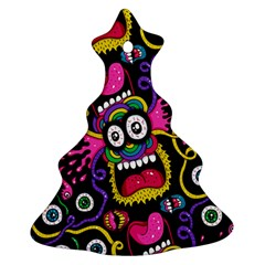 Monster Face Mask Patten Cartoons Christmas Tree Ornament (2 Sides) by AnjaniArt