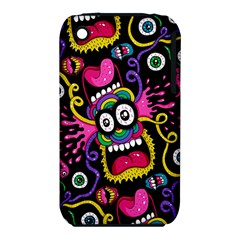 Monster Face Mask Patten Cartoons Apple iPhone 3G/3GS Hardshell Case (PC+Silicone) by AnjaniArt