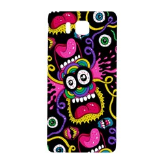 Monster Face Mask Patten Cartoons Samsung Galaxy Alpha Hardshell Back Case by AnjaniArt