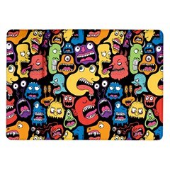 Monster Faces Samsung Galaxy Tab 10 1  P7500 Flip Case by AnjaniArt