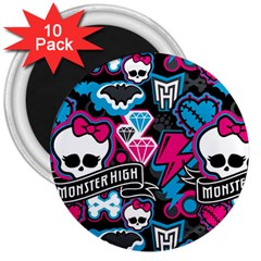 Monster High 03 3  Magnets (10 Pack)  by AnjaniArt