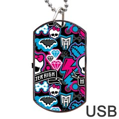Monster High 03 Dog Tag USB Flash (Two Sides)  by AnjaniArt