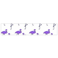 Flamingo Neon Purple Tropical Birds Flano Scarf (Small) by CrypticFragmentsColors