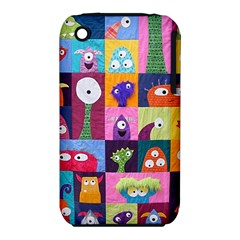 Monster Quilt Apple Iphone 3g/3gs Hardshell Case (pc+silicone) by AnjaniArt