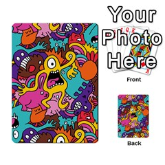 Monsters Pattern Multi Purpose Cards (rectangle)  by AnjaniArt