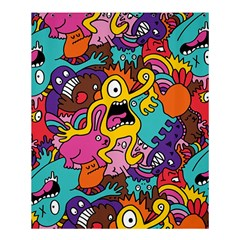 Monsters Pattern Shower Curtain 60  X 72  (medium)  by AnjaniArt