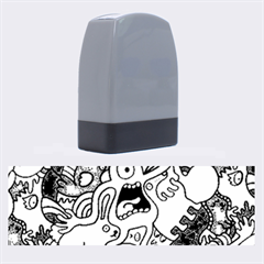 Monsters Pattern Name Stamps by AnjaniArt