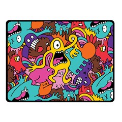 Monsters Pattern Double Sided Fleece Blanket (Small)  by AnjaniArt