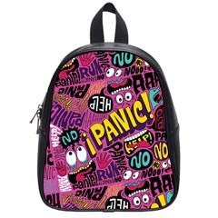 Panic Pattern School Bags (small)  by AnjaniArt