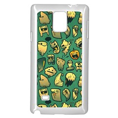 Pattern Linnch Samsung Galaxy Note 4 Case (White) by AnjaniArt