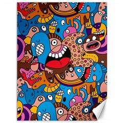 People Face Fun Cartoons Canvas 36  X 48   by AnjaniArt