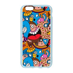 People Face Fun Cartoons Apple Seamless iPhone 6/6S Case (Color) by AnjaniArt