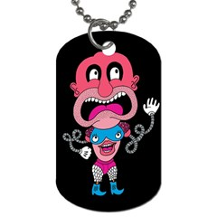 Red Cartoons Face Fun Dog Tag (two Sides) by AnjaniArt