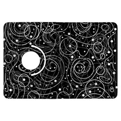 Black And White Magic Kindle Fire Hdx Flip 360 Case by Valentinaart