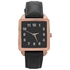 Mine Shaft Colour Rose Gold Leather Watch  by artpics