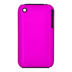 Magenta Colour Apple iPhone 3G/3GS Hardshell Case (PC+Silicone) by artpics