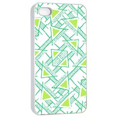 Ethnic Geo Pattern Apple Iphone 4/4s Seamless Case (white) by dflcprints